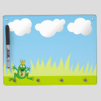 Prince Frog Dry Erase Board With Keychain Holder