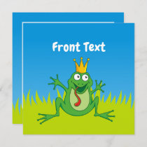 Prince Frog Invitation