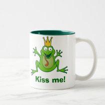 Prince frog, Kiss me! Two-Tone Mug
