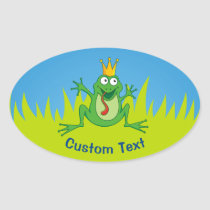 Prince Frog Oval Sticker
