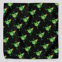 Prince Frog Pattern Bandana