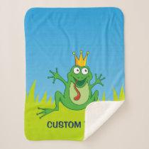Prince Frog Sherpa Blanket