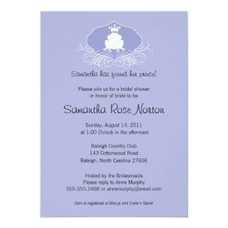 Prince Frog Themed Bridal Shower Card