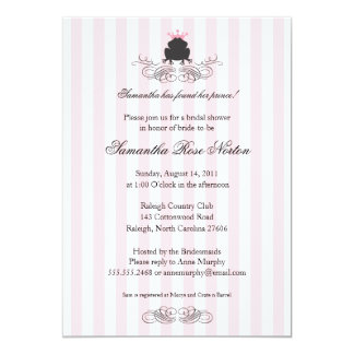 Prince Frog Themed Bridal Shower Invitations