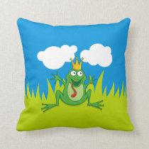 Prince Frog Throw Pillow