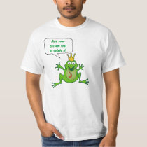 Prince frog with custom text T-Shirt