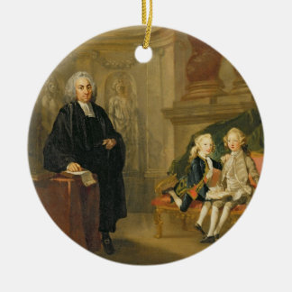 Prince George (1738-1820) and Prince Edward August Ceramic Ornament