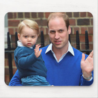 Prince George and Prince William Mouse Pad