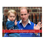 Prince George and Prince William Postcard