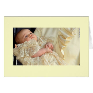 Prince George Christening Card