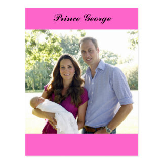 Prince George Kate William Royal Baby Postcard
