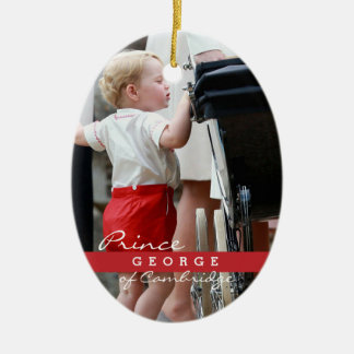 Prince George of Cambridge Double-Sided Oval Ceramic Christmas Ornament