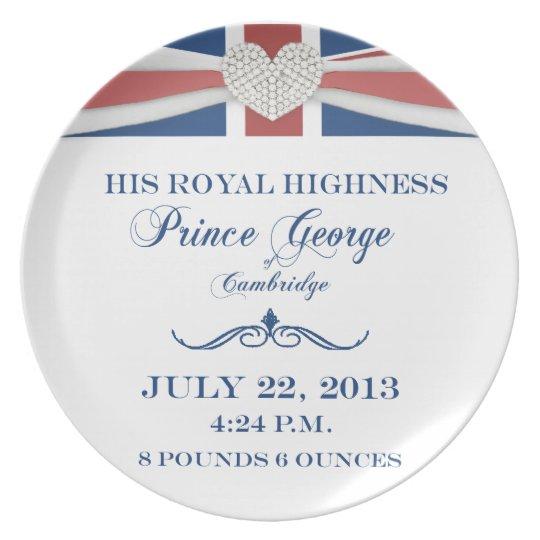 Prince George of Cambridge Keepsake Plate 2013