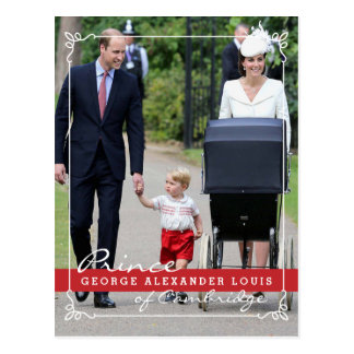 Prince George - Princess Charlotte - William Kate Postcard