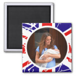 Prince George Royal Baby 2 Inch Square Magnet