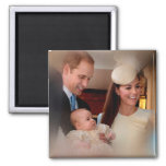 Prince George Royal Family 2 Inch Square Magnet