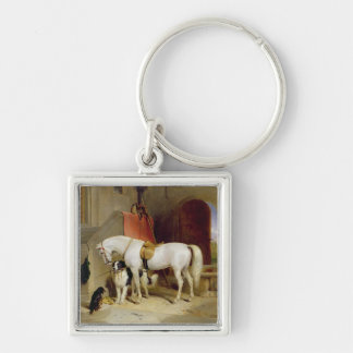 Prince George s Favourites oil on canvas Key Chain