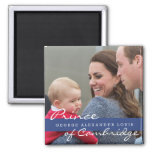Prince George - William & Kate 2 Inch Square Magnet