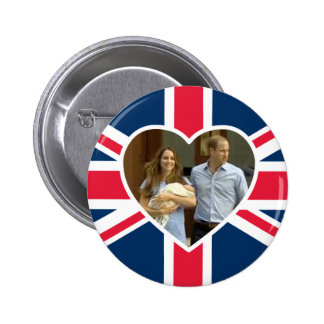 Prince George - William & Kate 2 Inch Round Button