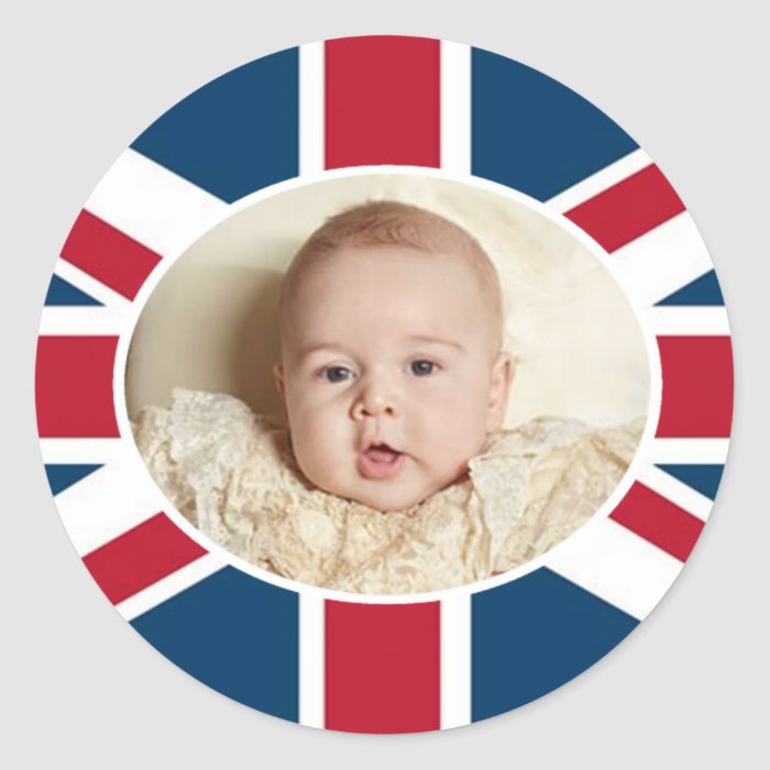 Prince George - William & Kate Classic Round Sticker