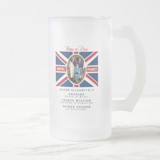 Prince George - William & Kate Frosted Glass Beer Mug