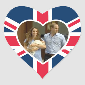 Prince George - William & Kate Heart Sticker