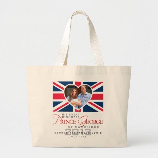 Prince George - William & Kate Jumbo Tote Bag