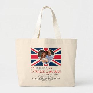 Prince George - William & Kate Large Tote Bag