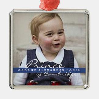 Prince George - William & Kate Metal Ornament
