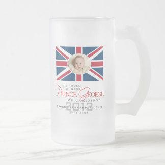 Prince George - William & Kate Glass Beer Mug
