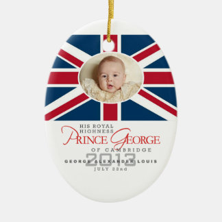 Prince George - William Kate Christmas Ornament