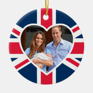 Prince George - William & Kate Double-Sided Ceramic Round Christmas Ornament
