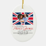 Prince George - William & Kate Double-Sided Oval Ceramic Christmas Ornament