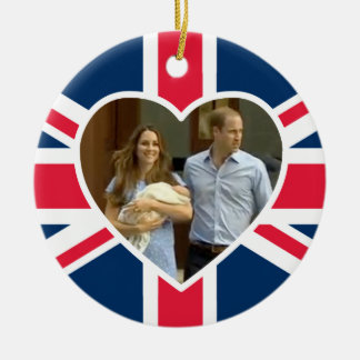 Prince George - William Kate Christmas Ornaments