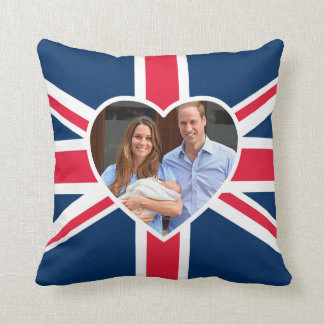 Prince George - William & Kate Throw Pillows