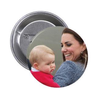 Prince George - William & Kate Pinback Button