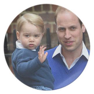 Prince George - William & Kate Dinner Plates