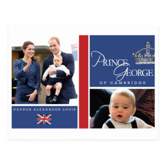 Prince George - William Kate Postcards