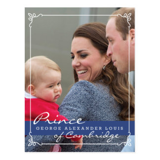 Prince George - William Kate Post Card
