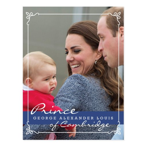 Prince George - William & Kate Post Card