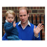 Prince George - William & Kate Poster