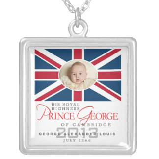 Prince George - William & Kate Silver Plated Necklace