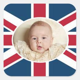 Prince George - William & Kate Square Sticker