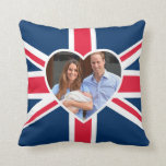Prince George - William & Kate Throw Pillow