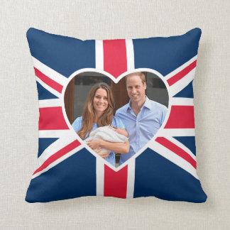 Prince George - William & Kate Throw Pillow