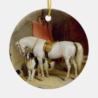 Prince George's Favourites (oil on canvas) Ceramic Ornament