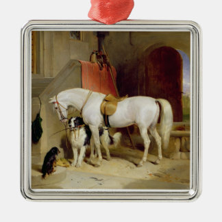 Prince George's Favourites (oil on canvas) Metal Ornament