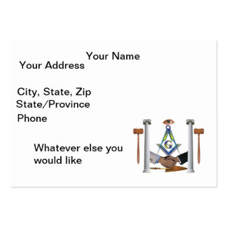 Prince Hall Brothers Large Business Card