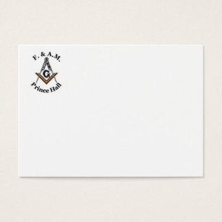 Prince Hall Business Card