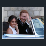 "Prince Harry and Meghan Depart Windsor, England Postcard<br><div class=""desc"">The Wedding of Prince Harry to Meghan Markle: St George&#39;s Chapel,  Windsor Castle on May 19,  2018</div>"